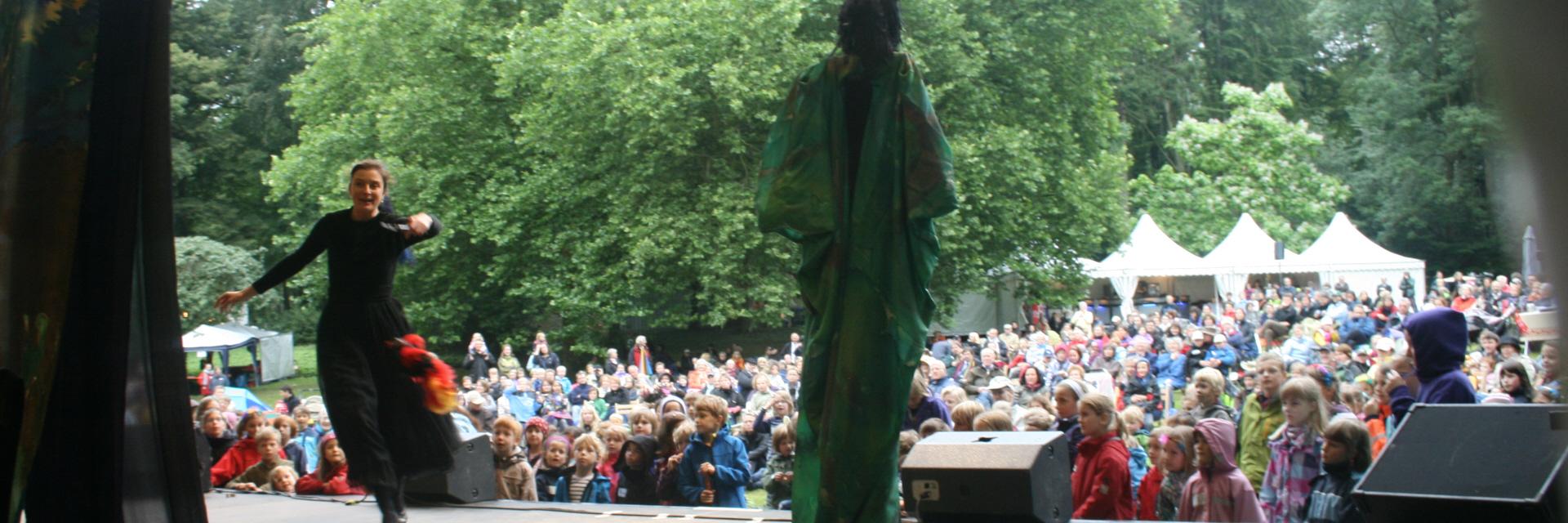 Blick von der Bühne ins Publikum